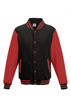 LASTEN VARSITY BASEBALL COLLEGETAKKI Black - Fire Red
