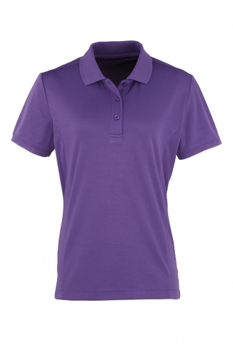 NAISTEN COOLCHECKER TEKNINEN PIKEE Purple