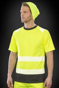 RECYCLED SAFETY T-PAITA Fluorescent Yellow