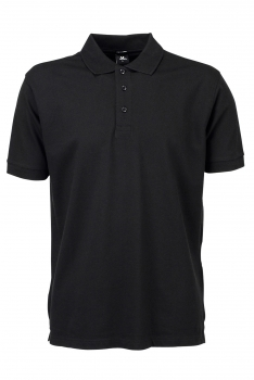 DELUXE STRETCH PIKEE Black