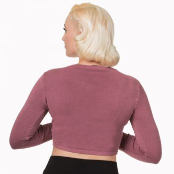 BOLERO - Folded Bolero VINTAGE DUSTY PINK - BANNED
