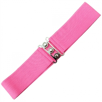 Vintage Stretch Belt - HOT PINK - Banned