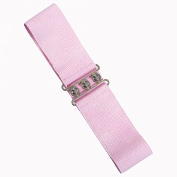 Vintage Stretch Belt - LIGHT PINK - Banned