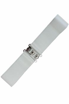 Vintage Stretch Belt - Valkoinen - Banned
