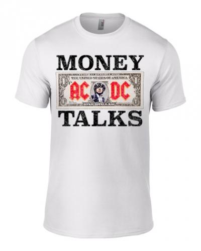 T-PAITA - MONEY TALKS (VALKOINEN) - AC/DC (LF8193)