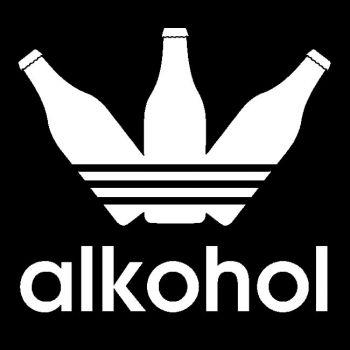 HUPPARI - ALKOHOL musta