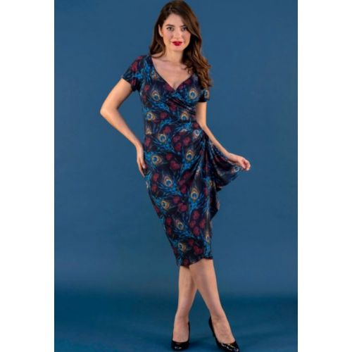 KYNÄMEKKO -ELSIE DRESS - PEACOCK LOVE - LADY VINTAGE
