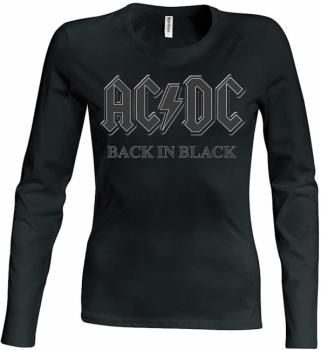 PITKÄHIHAINEN T-PAITA - BACK IN BLACK GIRLIE - AC/DC (LF8164)