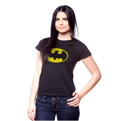 NAISTEN T-PAITA - BATMAN DISTRESSED LOGO GIRLY (86720)