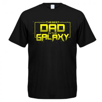 T- PAITA musta - THE BEST DAD IN THE GALAXY
