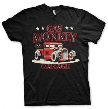 Gas Monkey Garage - Texas Rod T-paita - Musta (GMG010)