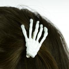 HIUSKLIPSI - BHC BONE HAIR CLIP white