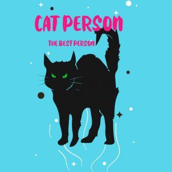 NAISTEN PAITA  Azure Blue - CAT PERSON