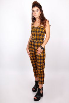 HAALARIT - Check 'Em Out Plaid Jumpsuit