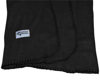 FLEECE HUOPA - Polarfleece Army Style Blanket black