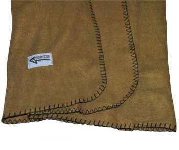 FLEECE HUOPA - Polarfleece Army Style Blanket darkcoyote