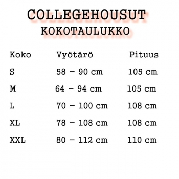 COLLEGEHOUSUT -2  LEIJONAA (87856)
