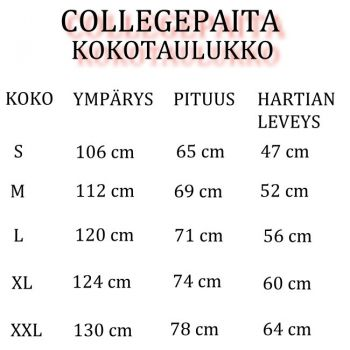 COLLEGE VALKOINEN - GENUINE PARTS (953)