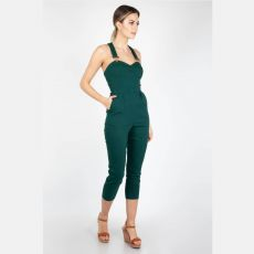 HAALARIT - Connie Fitted Capri Overalls Green