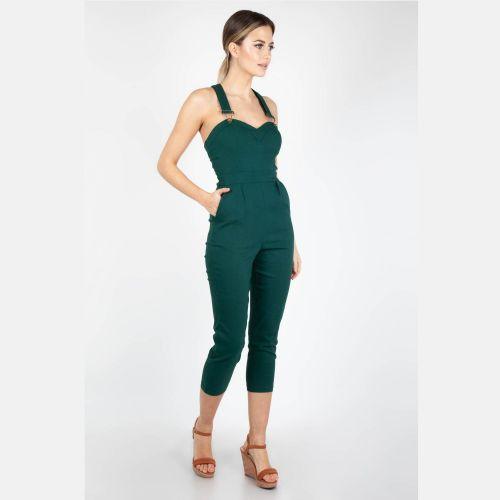 HAALARIT - Connie Fitted Capri Overalls Green