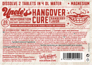Uncle's Hangover Cure Tablets