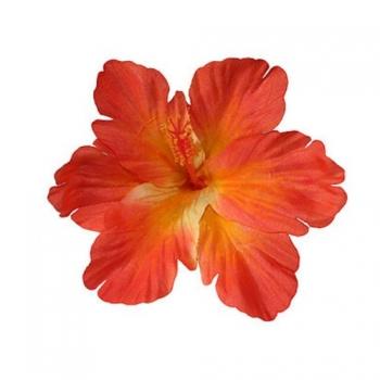Debra Orange Hibiscus Hair Flower