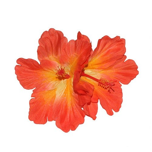 Debra Double Orange Hibiscus Hair Flower