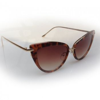 AURINKOLASIT - DITA CATS EYE SUNGLASSES Tortoiseshell/Gold