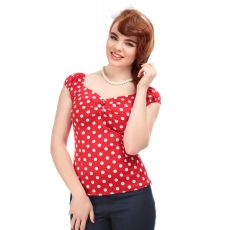 MAINLINE DOLORES TOP POLKA RED WHITE - COLLECTIF