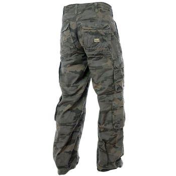 "PURE TRASH - REISITASKUHOUSUT - Cargo Pants, ""Defense"", combat camo"
