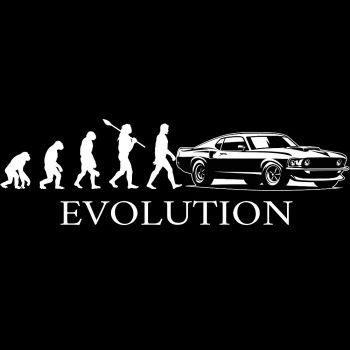 PITKÄHIHAINEN T-PAITA musta - EVOLUTION MUSTANG - PINETA