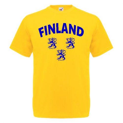 T-PAITA  FINLAND TRE LEJON keltainen