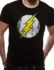 T-PAITA - THE FLASH - DISTRESSED LOGO BLACK (LF8403)