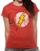 NAISTEN T-PAITA - THE FLASH - LOGO DISTRESSED (LF8485)