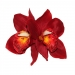 Ginger Double Red Orchid Hair Flower