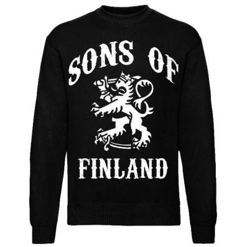 COLLEGE SONS OF FINLAND ISOLLA PAINATUKSELLA musta