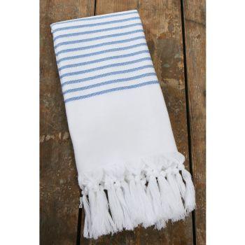 Pyyhe - Hamam pyyhe 100 x 200cm valkoinen/sininen