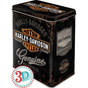 Säilytyspurkki L Harley-Davidson Genuine logo