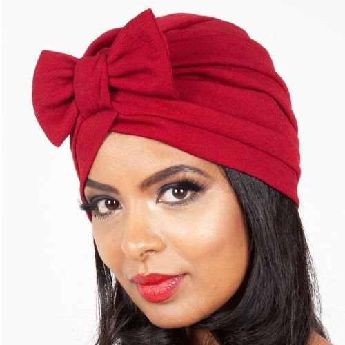TURBAANI - Elsie Burgundy Bow