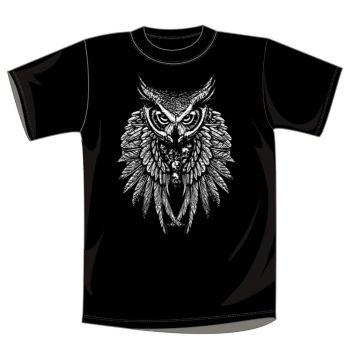 T-PAITA mu HALLOWEEN OWL SKULL WINGS (932)