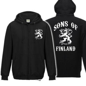 SUURILLE MIEHILLE ZOODIE VETOKETJUHUPPARI - SONS OF FINLAND