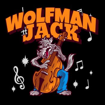 CLASSIC HUPPARI musta - WOLFMAN JACK