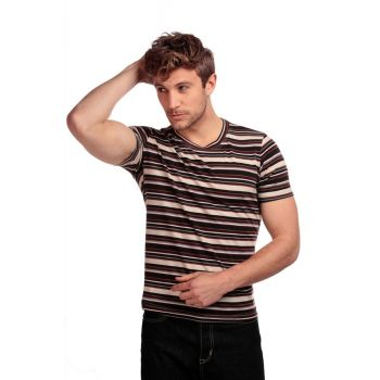 T-PAITA - JIM AUTUMN STRIPED T-SHIRT
