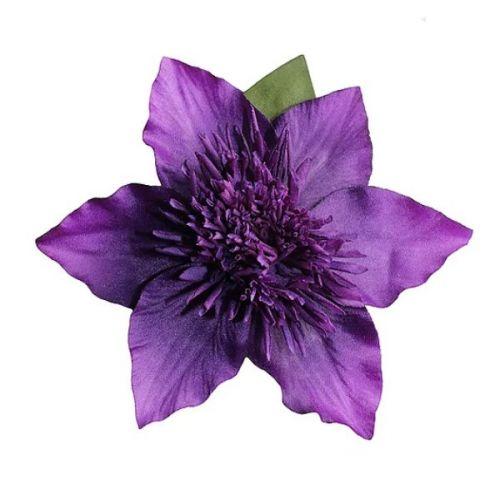 JULIET Purple Clematis Hair Flower Clip