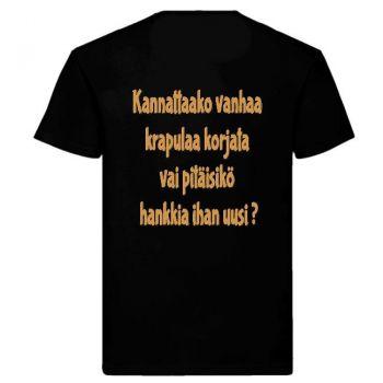 T-PAITA - MÖKÄÖLJY SELKÄPAINATUKSELLA (musta)