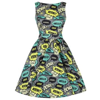 KELLOMEKKO - TEA DRESS -KAPOW!! - LADY VINTAGE