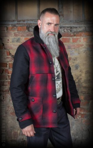 RUMBLE59 - Checked Jacket Red Rock