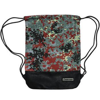 TREENIKASSI - Backpack Gym Bag Flecktarn