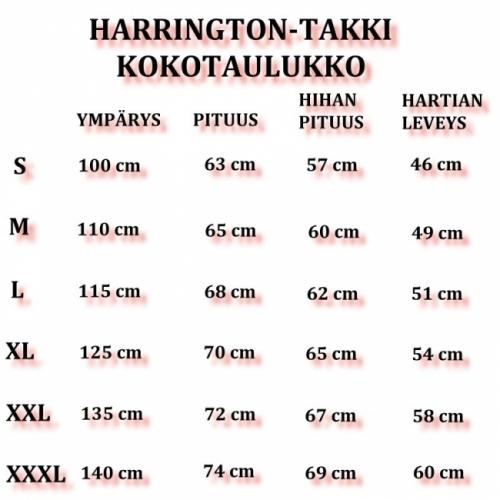 HARRINGTON TAKKI - musta