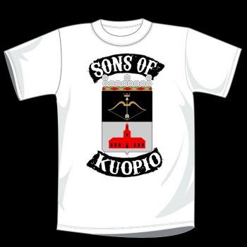 T-PAITA VALKOINEN - SONS OF KUOPIO VAAKUNA